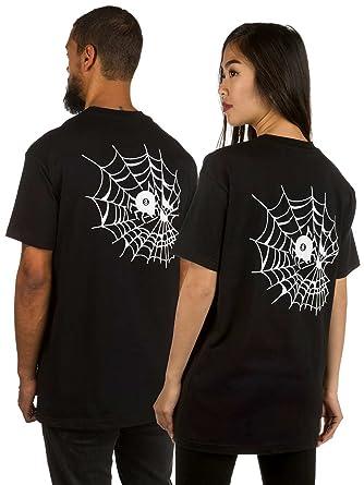 e4368000fba T-Shirt Men Swallows and Daggers Skull Web T-Shirt  Amazon.co.uk  Clothing