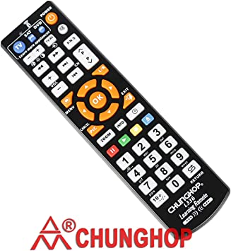 CHUNGHOP Universal IR Learning Remote Control for Smart TV VCR CBL DVD Sat STR-TV CD VCD HI-FI 3 in 1 Programmable Controller L336 with Learn Function …: Amazon.es: Electrónica