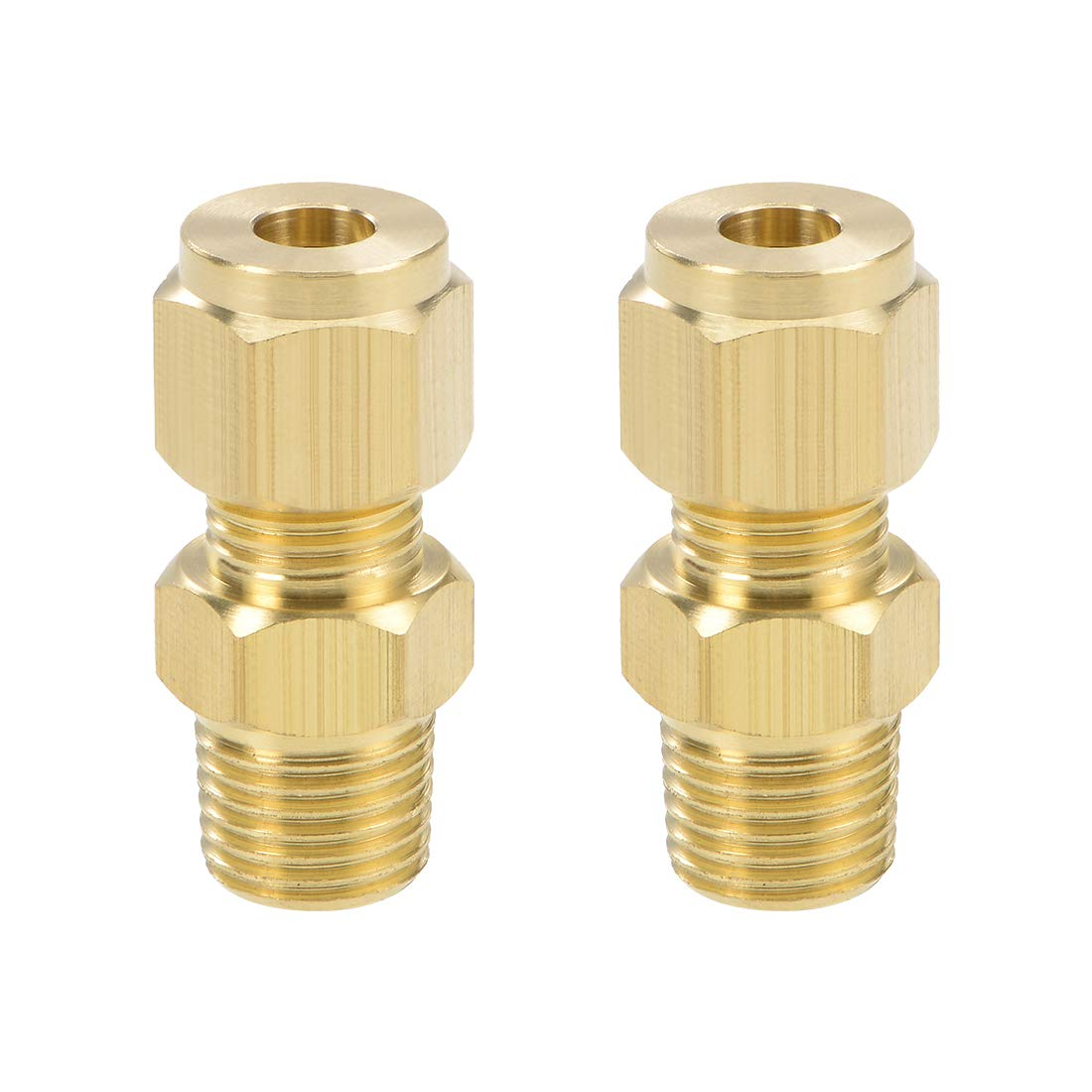 """1//4/"""" Brass Compression fitting for hydraulic brake lines 5//package"""