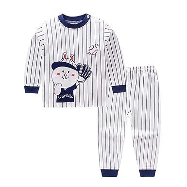 e30b6c251 Juleya Newborn Boys Girls Pajamas Cotton Fleece Pajamas Winter Warm ...