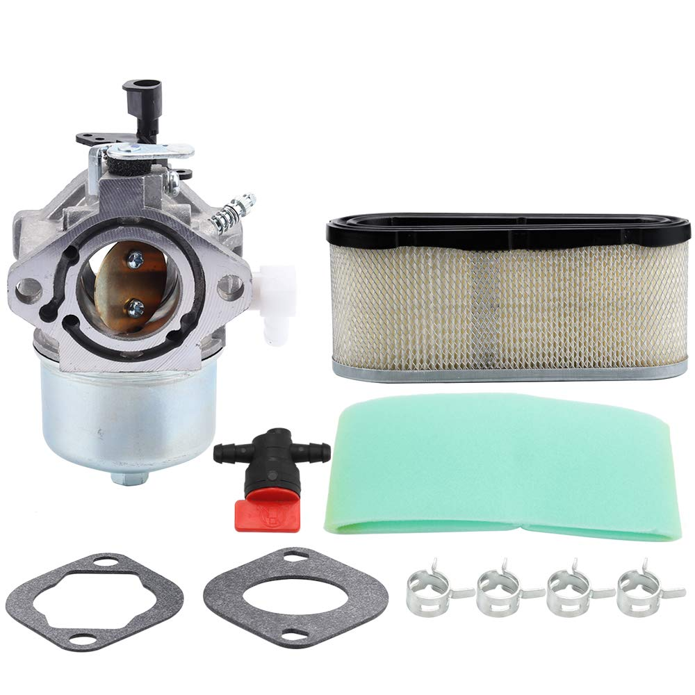 Kizut 699831 Carburetor for Briggs and Stratton 286702 283707 284707 286707 28T700 28V700 289700 283702 284702 284777 Lawn Mower Parts 694941 Carb 496894S Air Filter