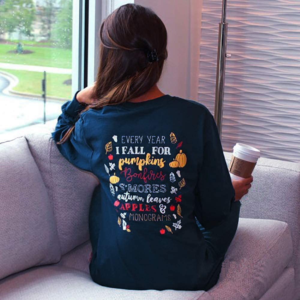 iLOOSKR Women O-Neck Halloween Party Pumpkin Print Long Sleeve Tops Pullover Sweatshirt Shirt