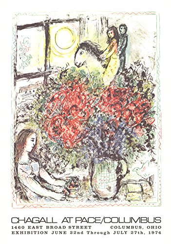 Rare Posters Prints, Marc Chagall-La Chevauchee 1979 Lithograph