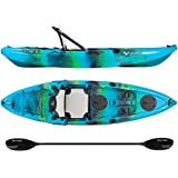 Vibe Kayaks Yellowfin 100 10 foot Angler Sit On Top Kayak with Paddle and Hero Seat