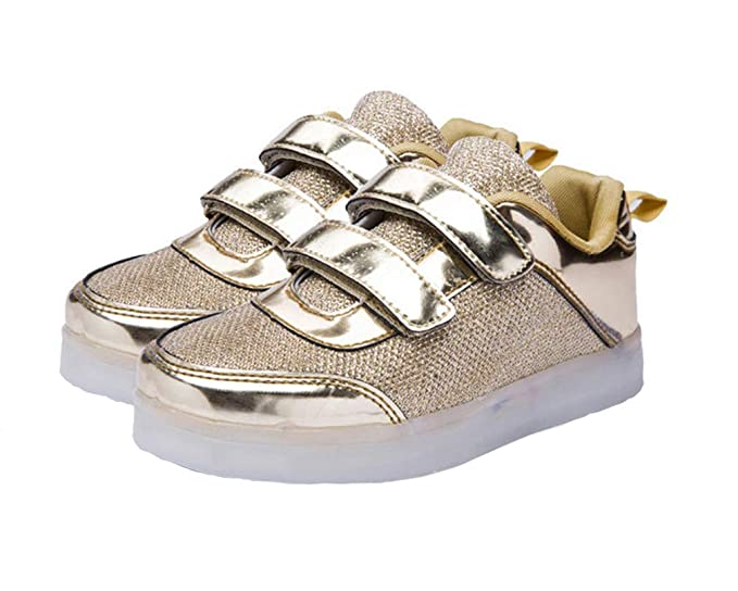 GOLDGOD Zapatos luminosos coloridos para niños y niñas Zapatos con luz led en niños Zapatillas con flash de carga USB Boy Velcro antideslizantes: Amazon.es: ...