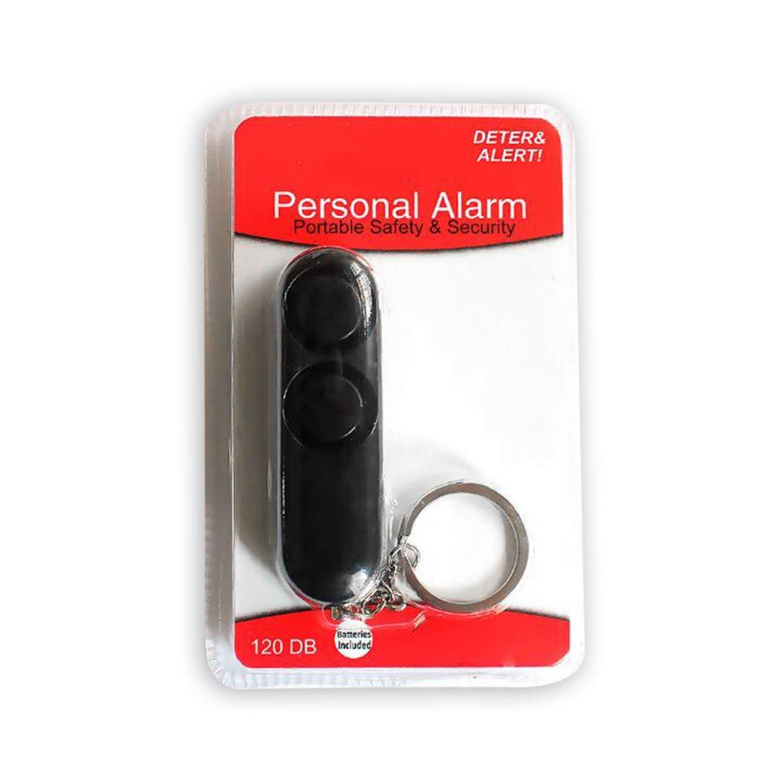 MXECO Moda 120dB Dispositivo Anti-violaci/ón Altavoces duales Alerta de Alarma Fuerte Ataque de p/ánico Seguridad Personal Llavero Llavero Colgante
