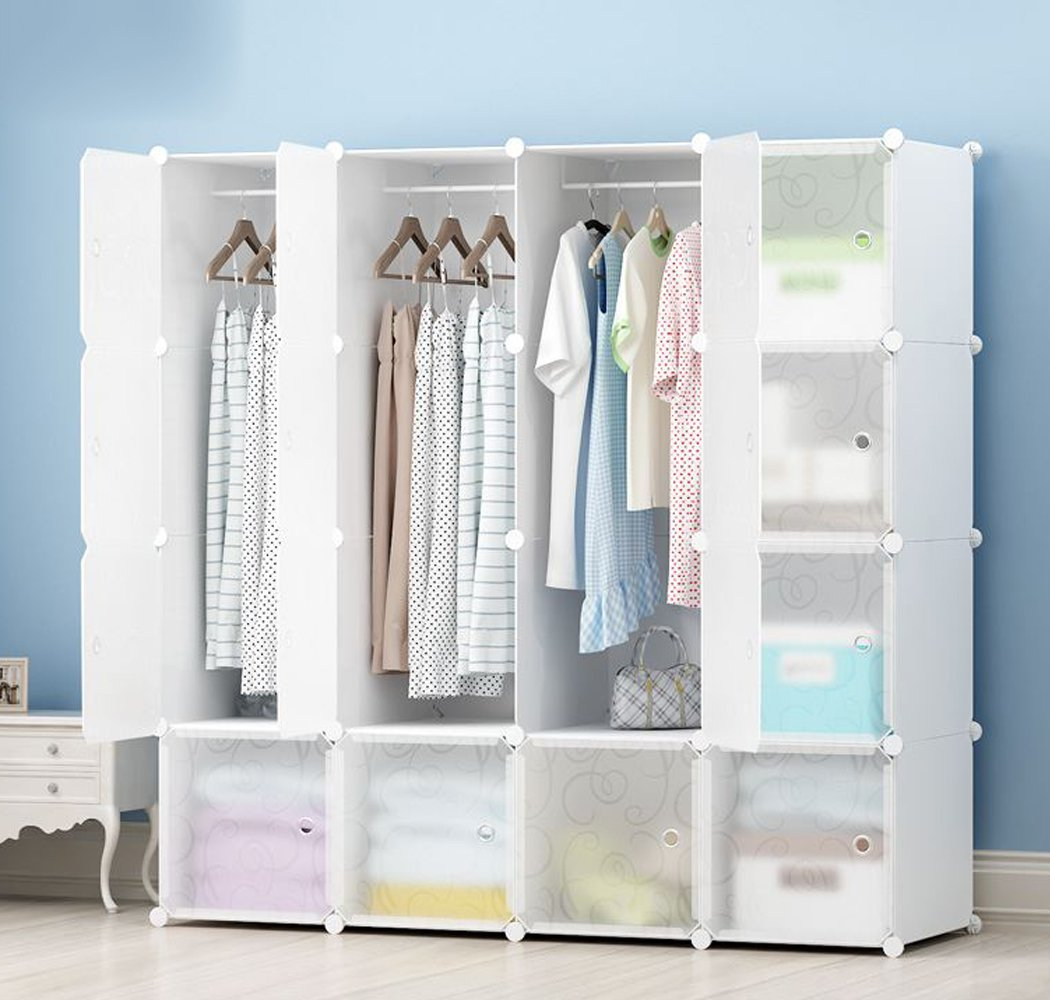 MEGAFUTURE JOISCOPE Portable Wardrobe for Hanging Clothes, Combination Armoire, Modular Cabinet for Space Saving, Ideal Storage Organizer Cube for Books, Toys, Towels(16-Cube)