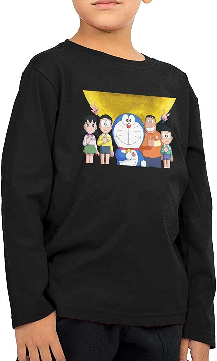 GongCZL Personalized Doraemon Guard T Shirts for Baby Black