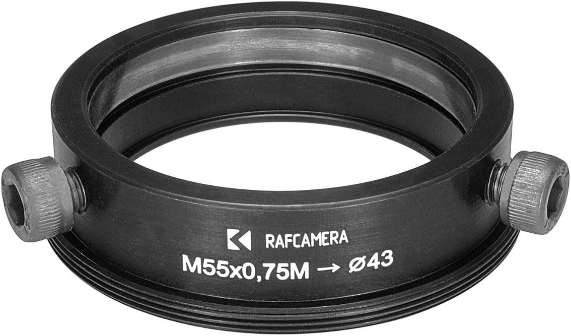 for Kowa 16-D Lenses 43mm to M55x0.75 Male Thread Adapter