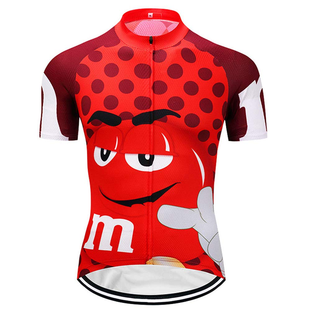 Qianliuk Divertidos Dibujos Animados Ciclismo Camisetas ...