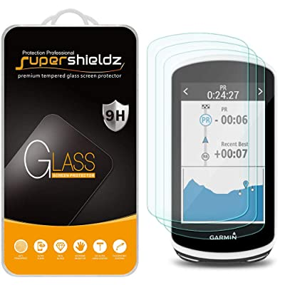 (3 Pack) Supershieldz for Garmin Edge 1030 Tempered Glass Screen Protector, Anti Scratch, Bubble Free: GPS & Navigation
