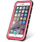 KYOKA iPhone8 Plus ケース iPhone7 Plus ケース 防水ケース 指紋認証対応 防水 防塵 耐震 耐衝撃 IP68 アイフォン7プラスケース 防水カバー (iPhone8Plus/7Plus, ピンク)