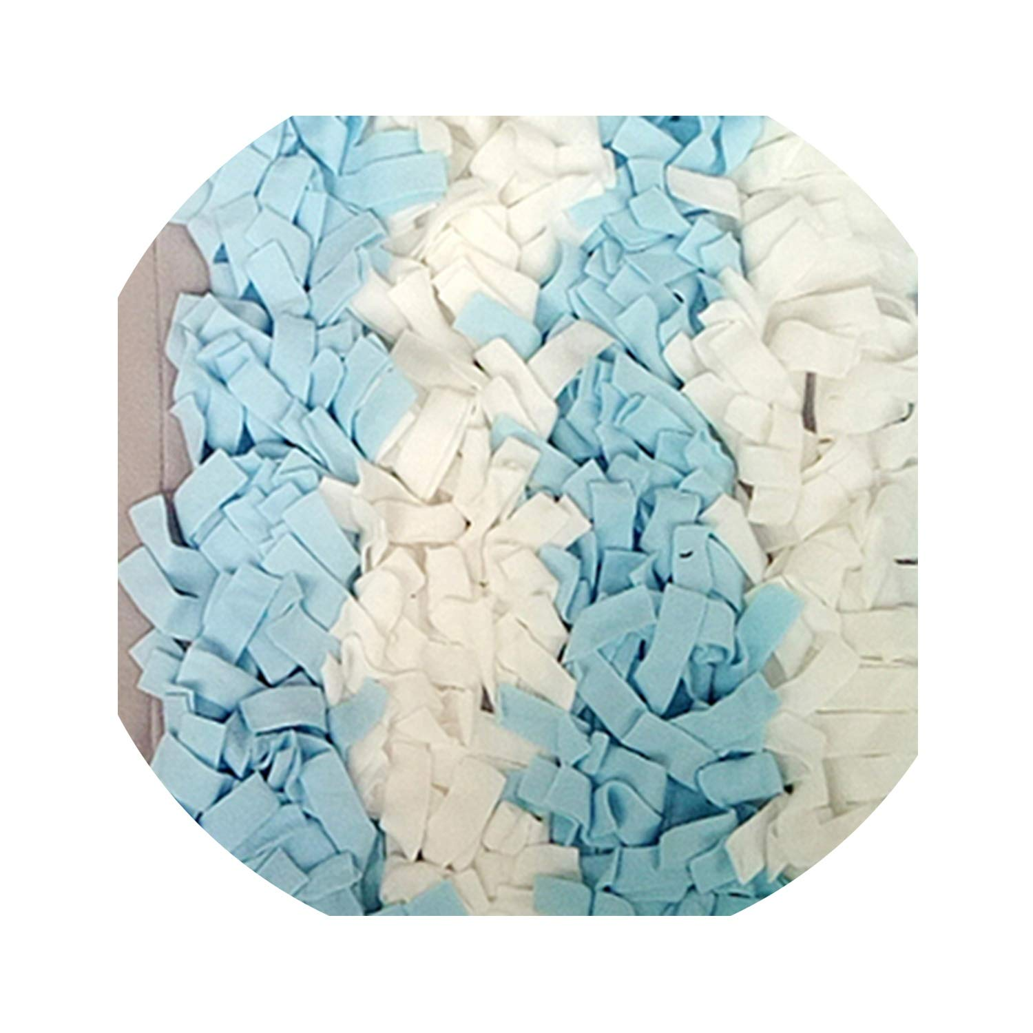Fanjie's Department store Handmade Dog Play Mat Snuffle Training Feeding Foraging Mat Nose Work Blanket Pet Toys,Blue,L 100 X 100Cm by Fanjie's Department store