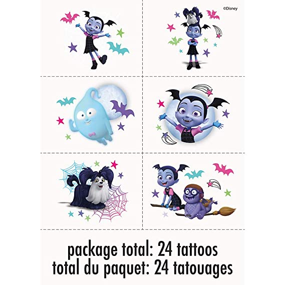 Unique Industries Disney Vampirina Tattoos (1 Package)