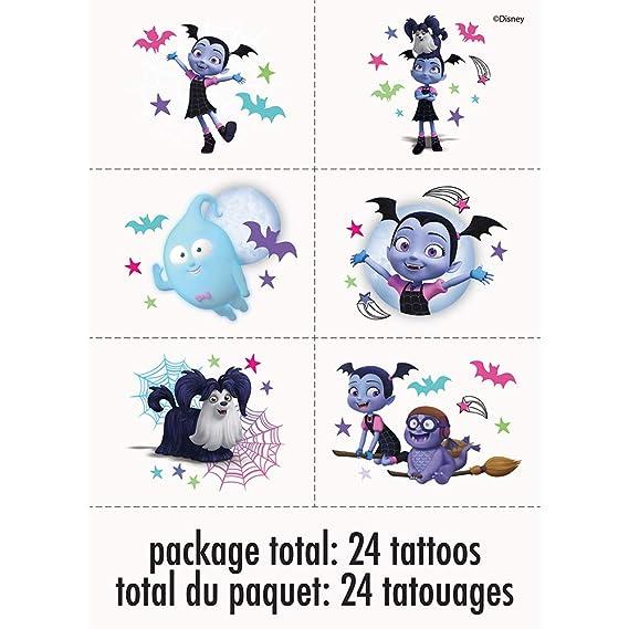 Unique Industries Disney Vampirina Tattoos (1 Package)