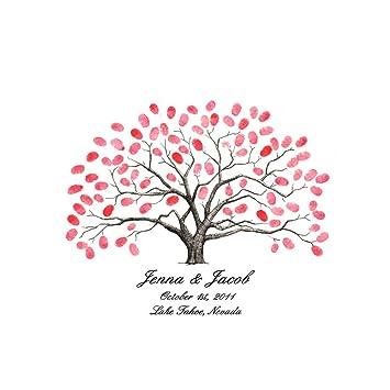 amazon com new style personalised fingerprint tree painting canvas
