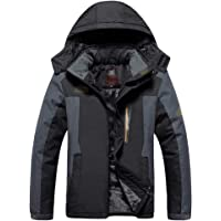 XFentech Men's Jacket - Windproof Coat Waterproof Warm Winter Ski Jackets with Zip Pockets
