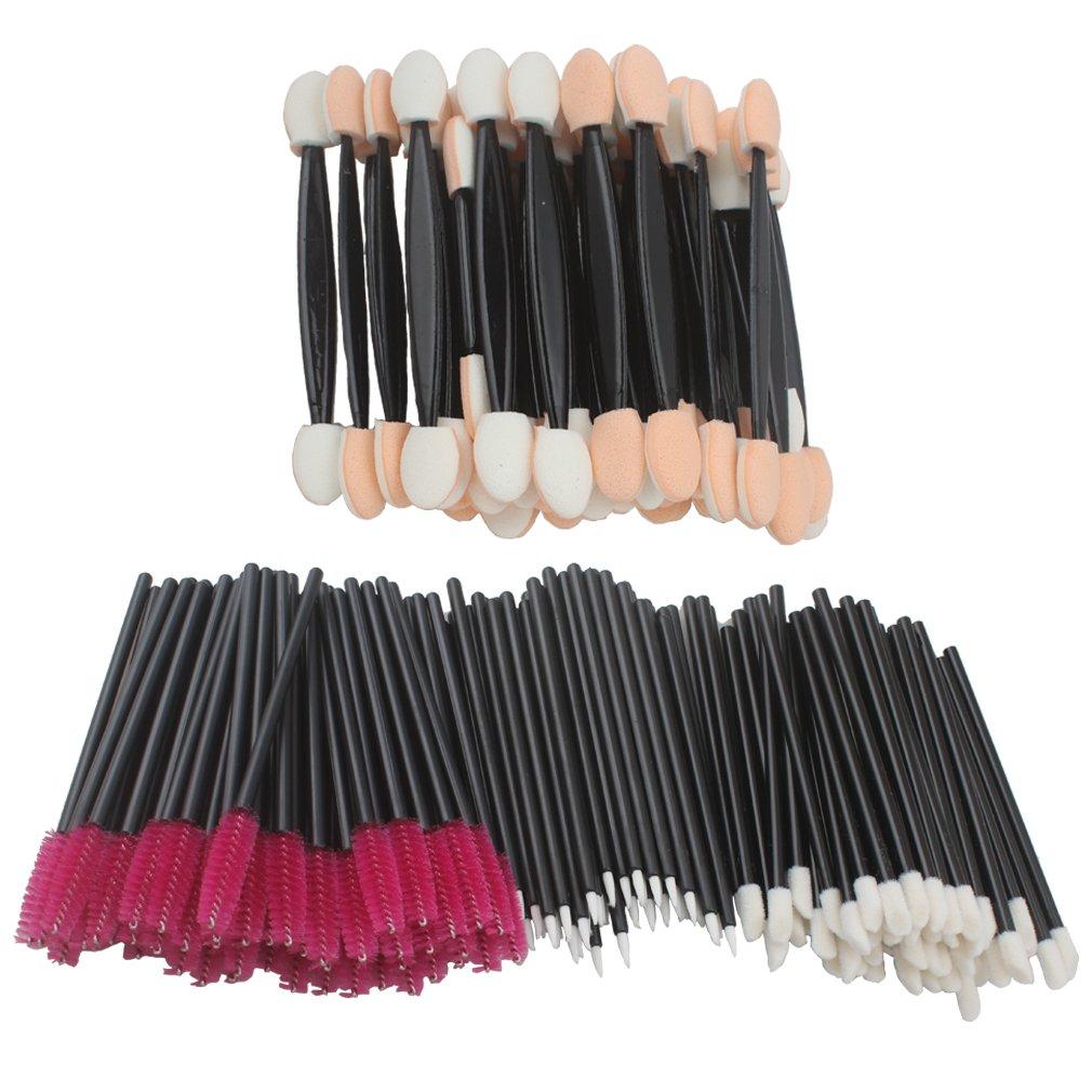 Jaciya 200Pcs Disposable Lip Brushes Eyelash Brushes Dual Sided Eyeshadow Brushes Eyeliner Brushes Makeup Brush Applicator Tool