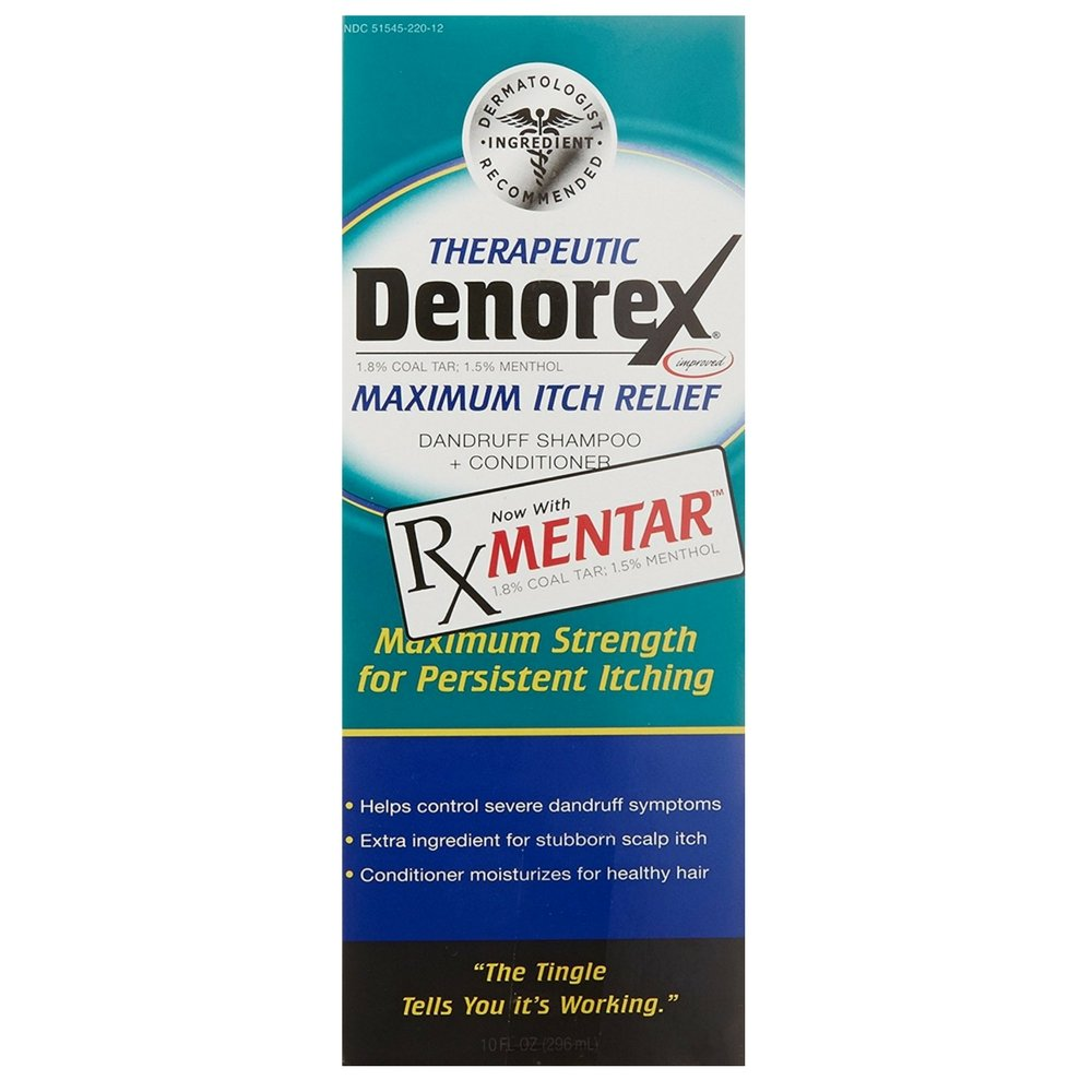 Denorex Therapeutic Dandruff Shampoo + Conditioner, Maximum Itch Relief 10 oz (Pack of 3) by Denorex (Image #1)