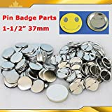 Asc365 1-1/2'' 37mm 100sets Pin Badge Button Parts Supplies for Pro Maker Machine(item#015502)
