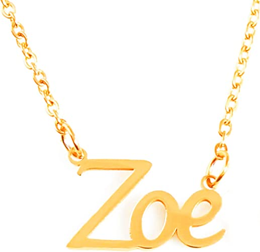 Zacria Mya Name Necklace 18ct Gold Plated