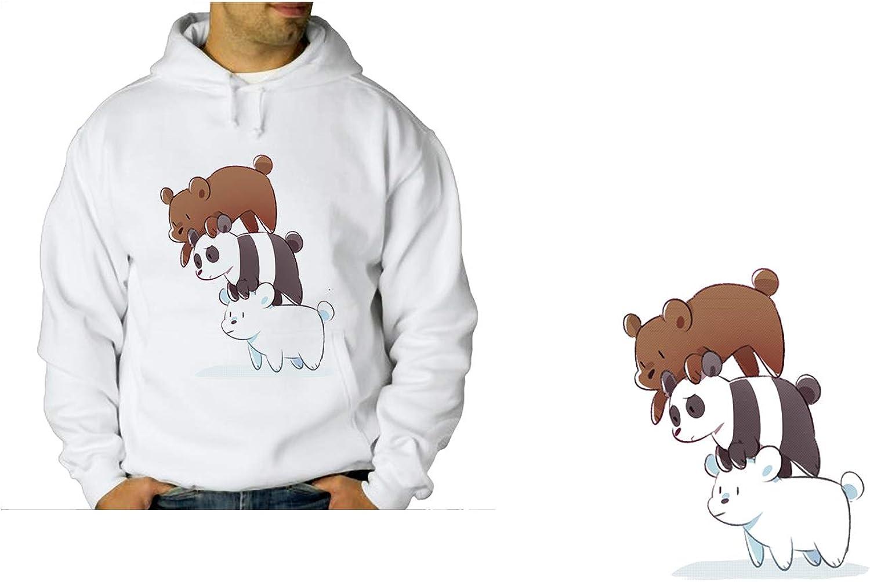 MERCHANDMANIA Sudadera con Capucha A3 Somos Osos Polar Panda Pardo Sweatshirt