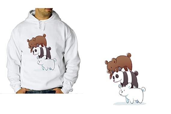 MERCHANDMANIA Sudadera con Capucha A3 Somos Osos Polar Panda ...
