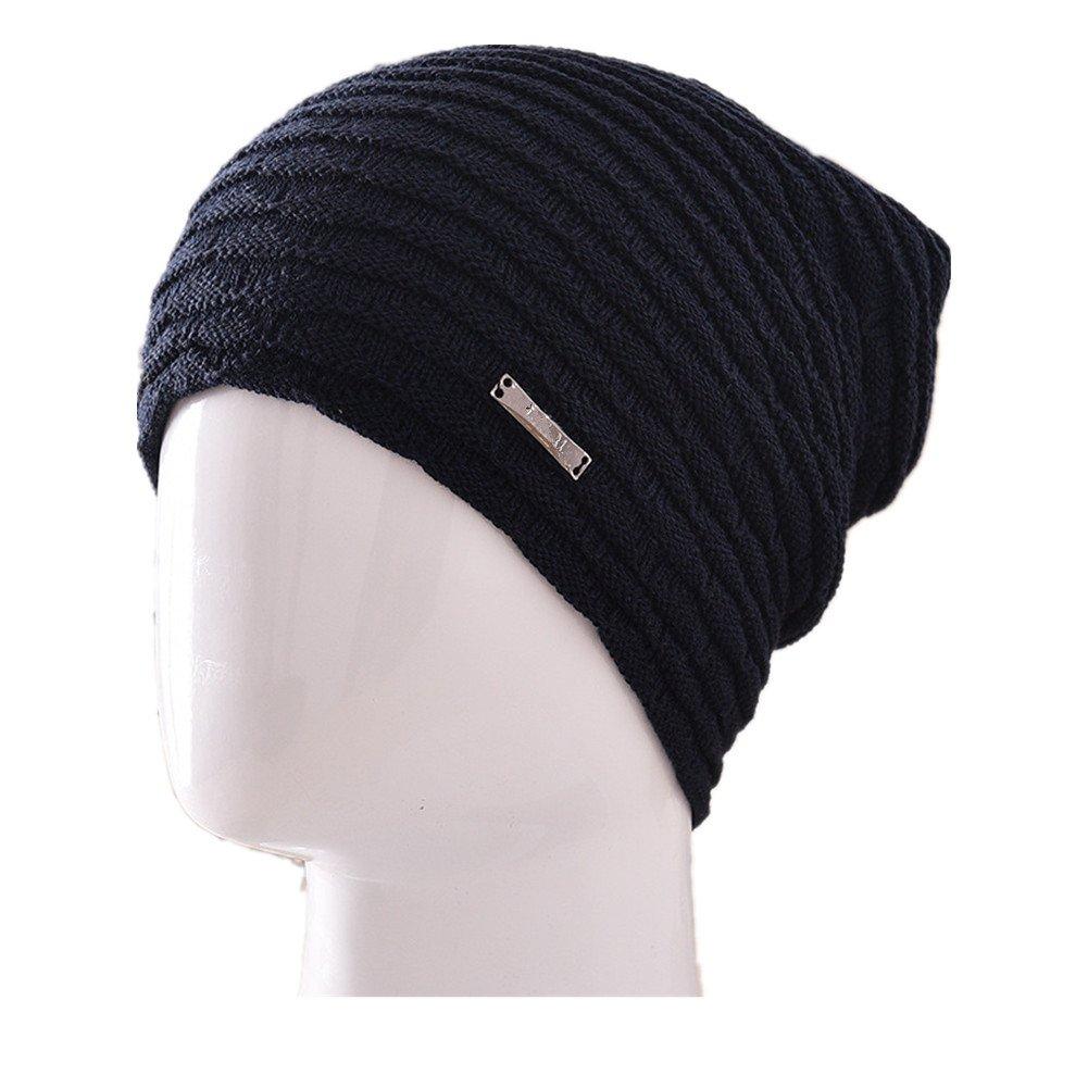 Plus cashmere warm mens wool hat outdoor knit hat riding ear ear cap