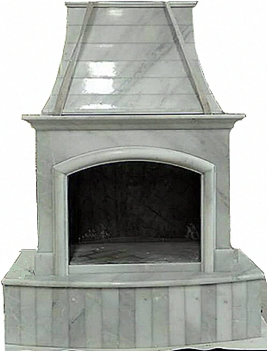 MCM3 First Class Outdoor Nature Stone Fireplaces,84''x63'' (Beige)