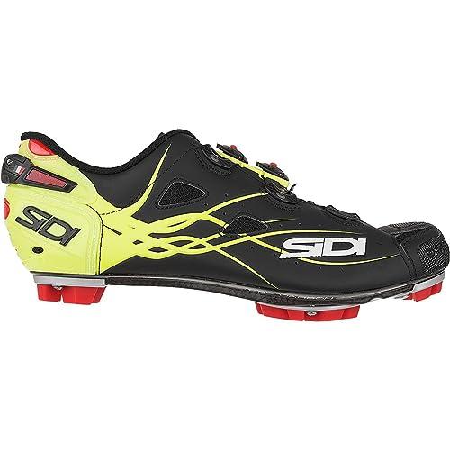 Zapatillas MTB Sidi Tiger Matt Carbon SRS Matt Negro-Amarillo Fluorescent: Amazon.es: Zapatos y complementos