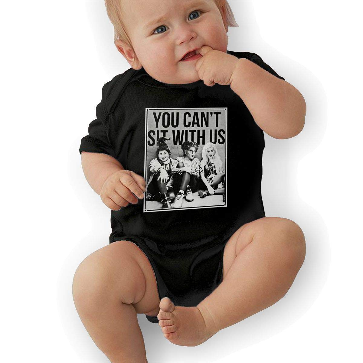 SHWPAKFA Baby You Cant Sit with Adorable Soft Music Band Jersey Creeping Suit,Black,6M