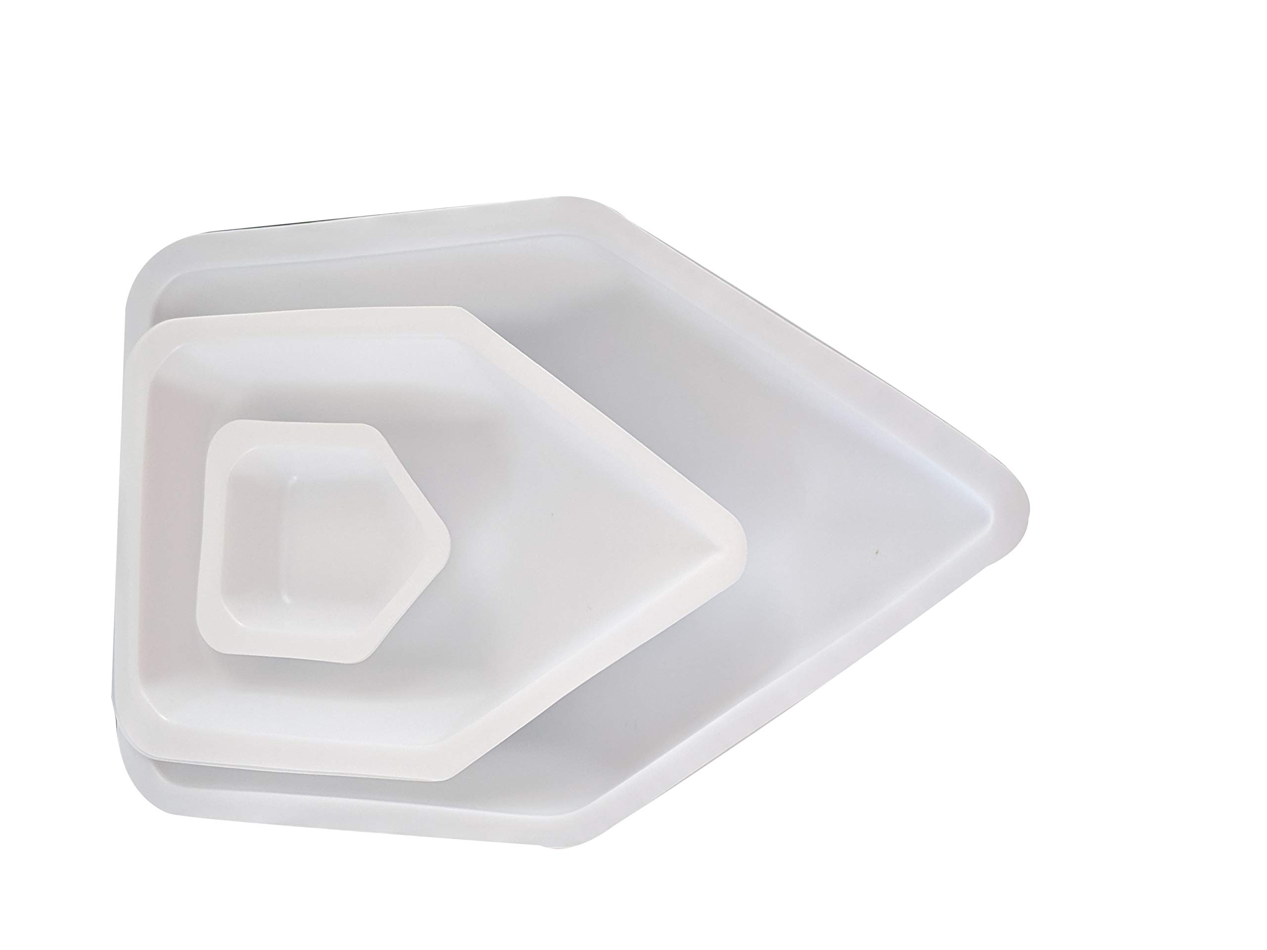Two Sets of Three Sizes (6 Total) Anti-Static Weigh Boats Canoe, Pour Disposable Weighing Dish (Small, Medium, Large)