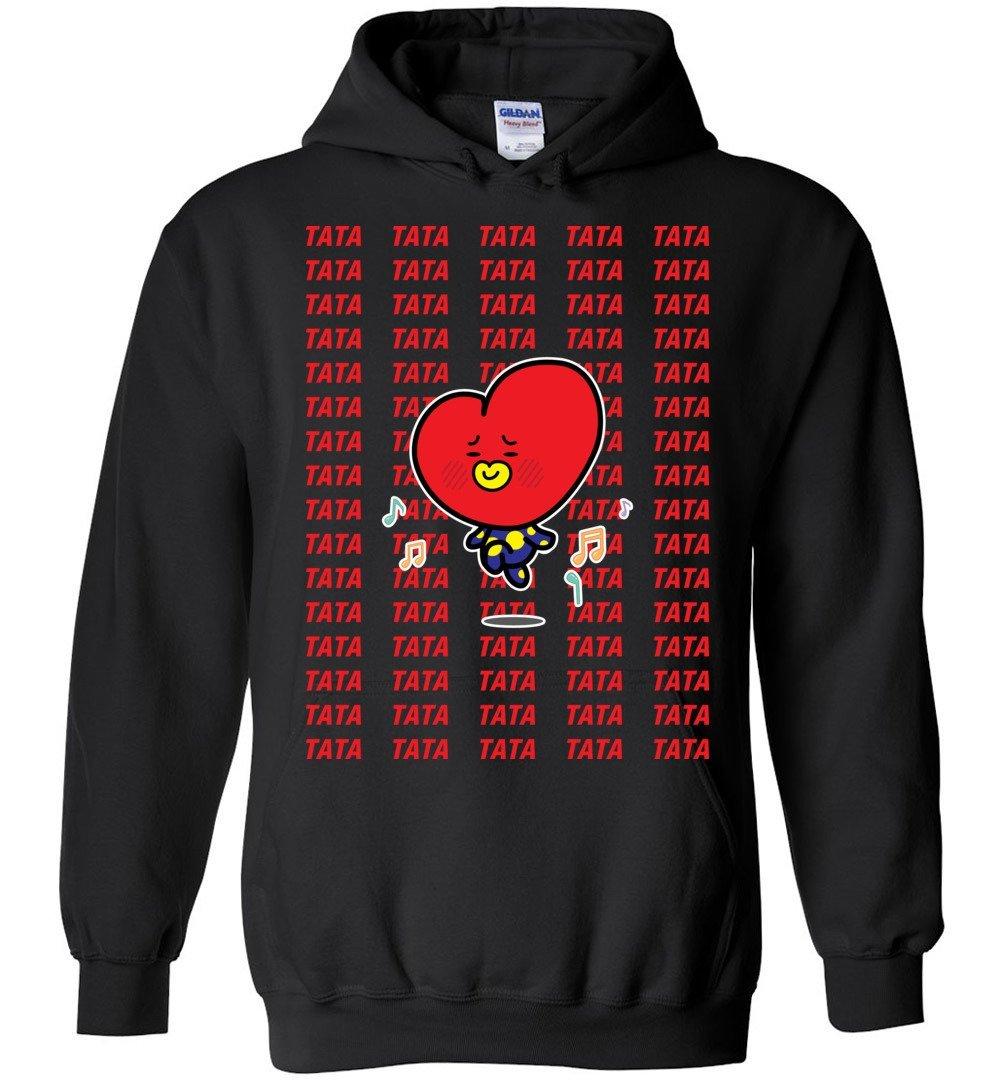 Amazon.com: Funny Tata Kim Teahuyng Funny BT21 The Incredible BTS Hoodies Sweatshirts Koya RJ Shooky Mang Chimmy Tata Cooky: Clothing