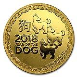#10: 2018 NZ Niue 1 oz Gold $250 Lunar Dog BU 1 OZ Brilliant Uncirculated