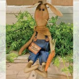 Primitive Baxter Bunny Stitched Fabric Country Easter Spring Doll by Hearthside Collection