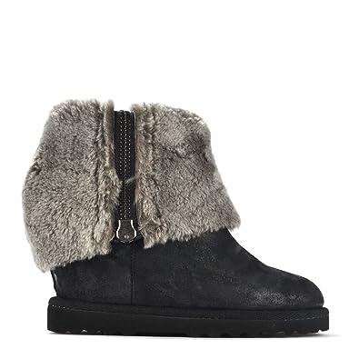 975912a13d681c Ash Chaussures Yorki Bottines Montantes en Daim, Femme 41 EU Noir ...