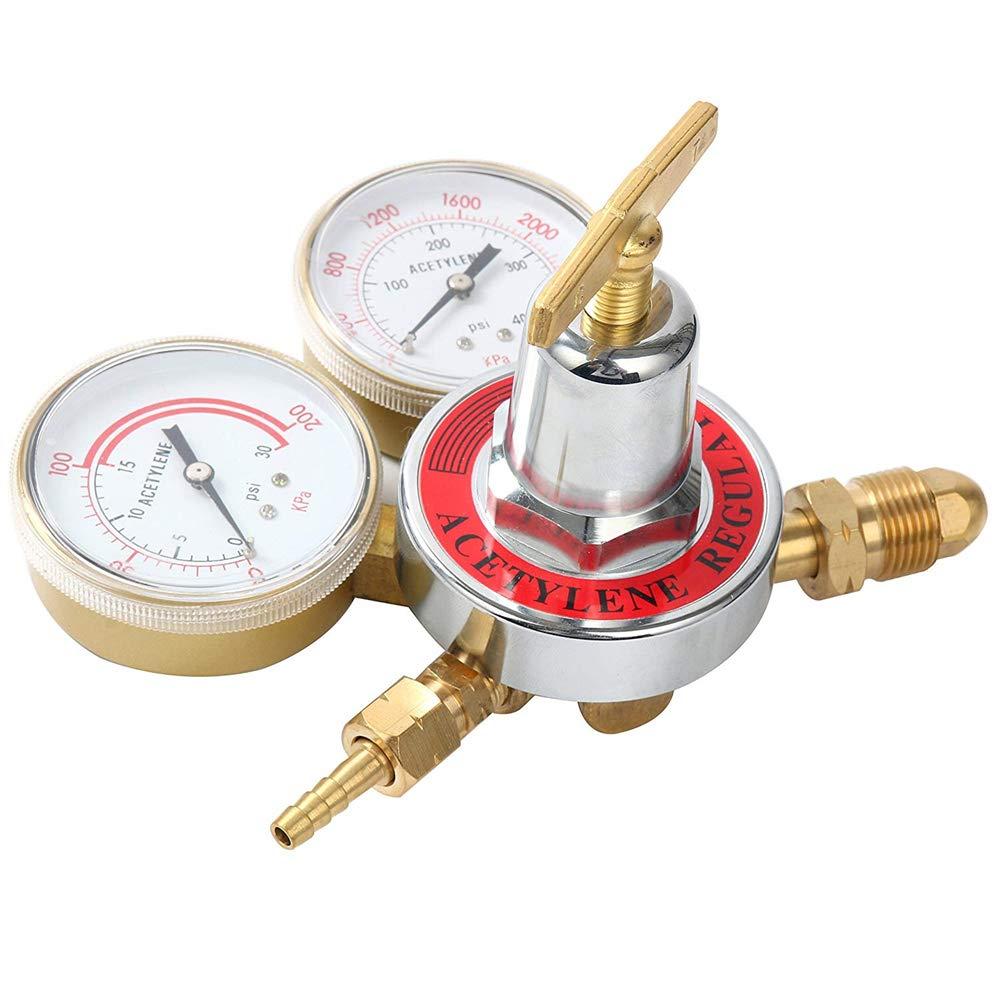 SKYTOU Oxygen Regulator Large Tank Gauge Cutting Torch Regulator Outlet 0-200PSI Inlet 0-4000PSI CGA 540 Compatible with Harris