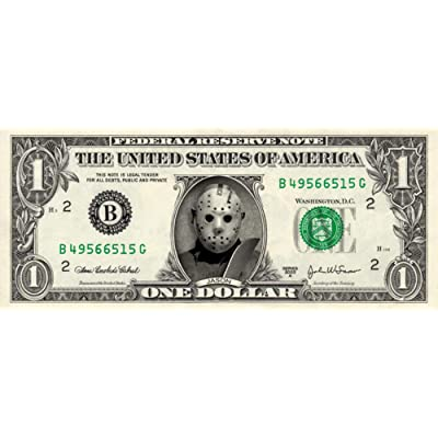 JASON VOORHEES on a Real Dollar Bill Collectible Cash Money Rare Mint $1: Everything Else