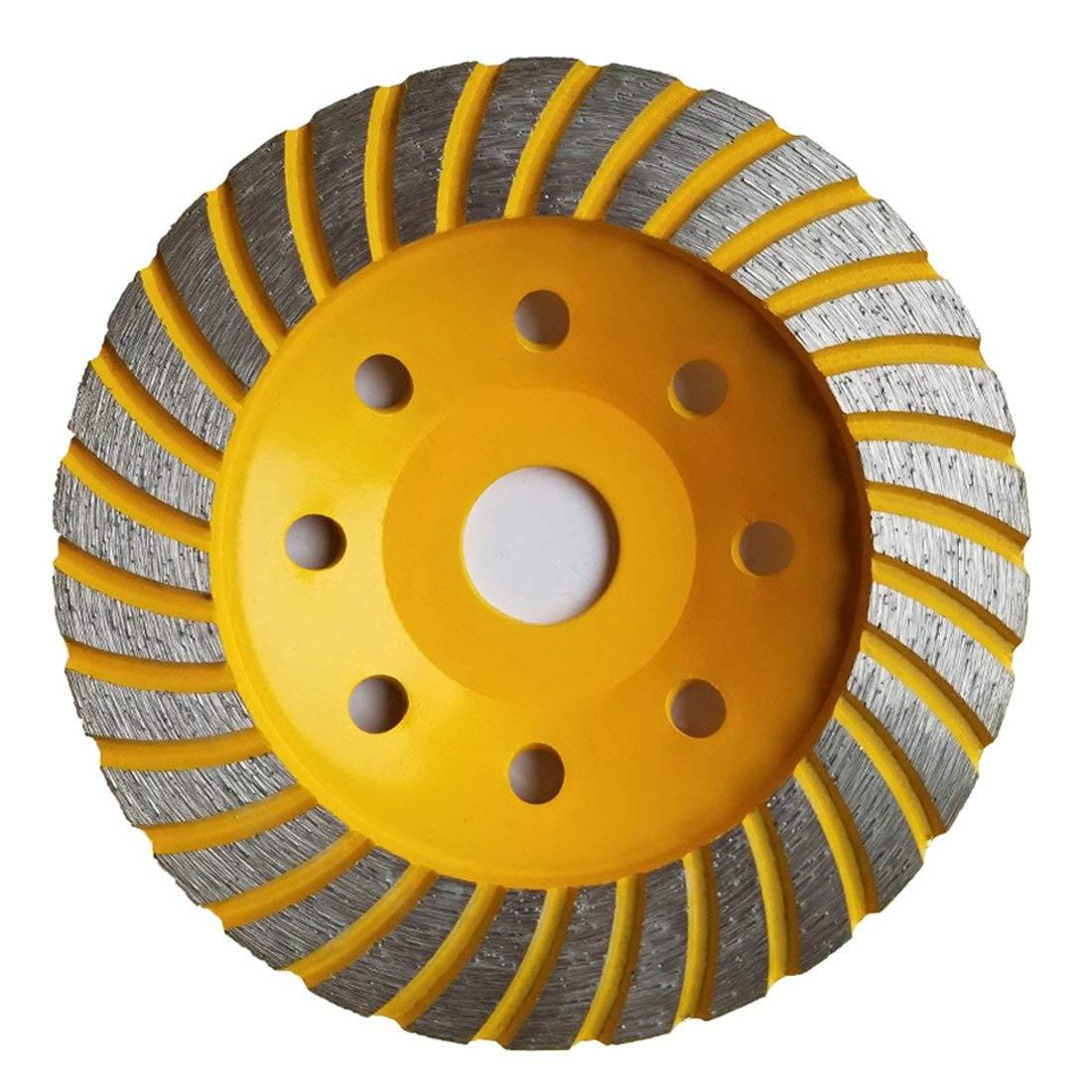 Aplus 5-Inch Diamond Cup Grinding Wheel, Turbo Diamond Grinder Disc for Concrete, Granite, Stone, Marble etc by APlus