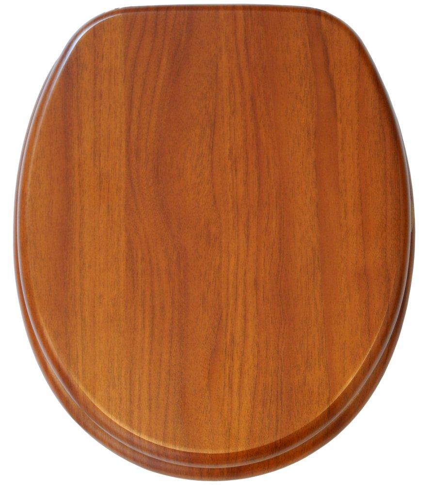 Sedile WC con chiusura ammortizzata Conchiglia bianca Grande scelta di belli sedili WC da legno robusto e di alta qualit/à