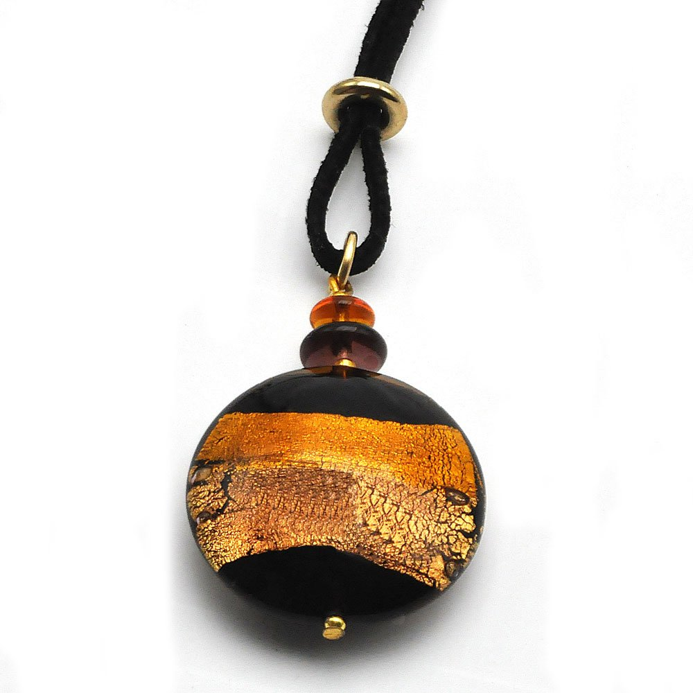 Horizon SunTradition Pendentif Marron//Or en Verre de Murano de Venise