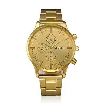 a0e4b1131ee6b AIMEE7 Montre Homme pas cher Mode Acier inoxydable Cadran Rond Analogique  Quartz Montre Casual De Luxe Montre Bracelet pour Hommes Classique  Décontracté ...