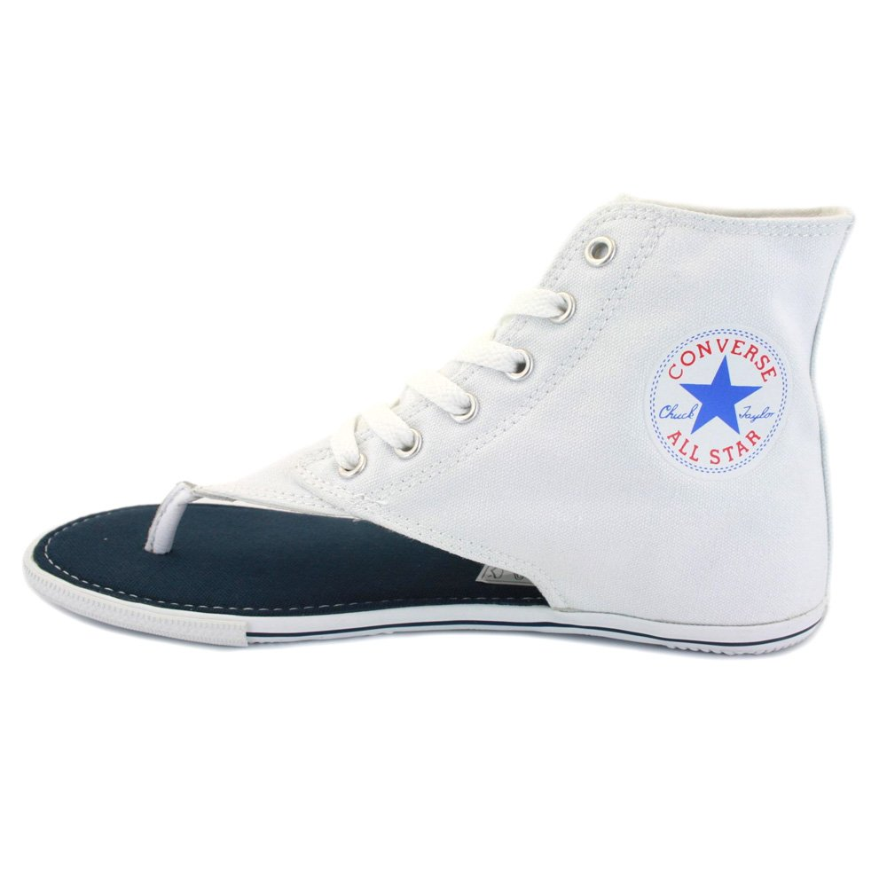 43192b60d345 Converse All Star CT Thong Sandal Hi 522256 Womens Laced Canvas Sandals  White - 5  Amazon.co.uk  Shoes   Bags