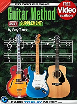 progressive guitar method book 1 supplement teach yourself how to play guitar free video. Black Bedroom Furniture Sets. Home Design Ideas