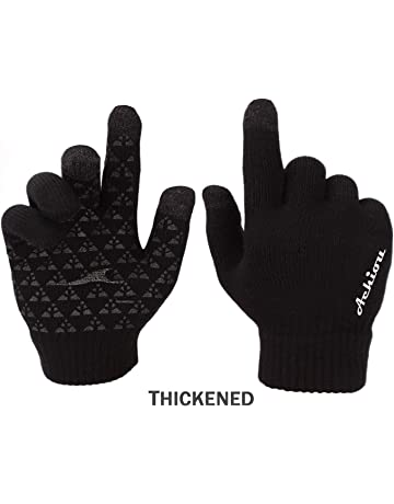 Achiou Winter Knit Gloves Touchscreen Warm Thermal Soft Lining Elastic Cuff  Texting Anti-Slip 3 fa4799c98
