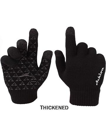 Achiou Winter Knit Gloves Touchscreen Warm Thermal Soft Lining Elastic Cuff  Texting Anti-Slip 3 c8cb6a1a7