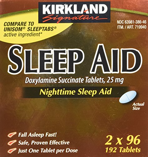 UPC 885469883131, Kirkland Sleep Aid Doxylamine Succinate 25 mg, 192 tablets