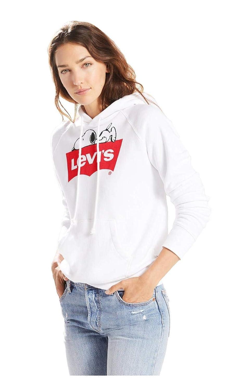 Levis® - Sudadera Levis Snoopy Mujer Color: 0030 Blanca Talla: Size M: Amazon.es: Ropa y accesorios
