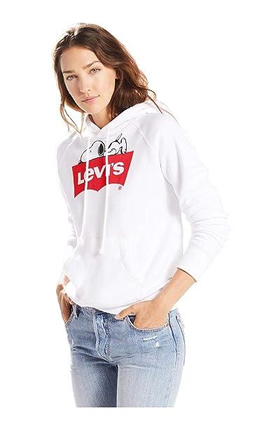 Levis® - Sudadera Levis Snoopy Mujer Color: 0030 Blanca Talla: Size M
