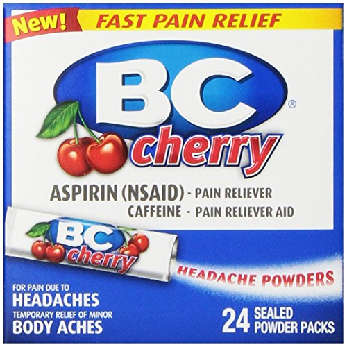 (3 Pack)-BC Cherry, Analgesic Powders, 24 Count each ()